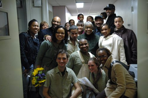 Cast photo in hallway after the show.