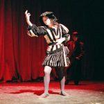 Actor striking Shakespearean pose.